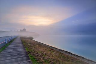 Foggy Morning, Sun Moon Lake 日月潭