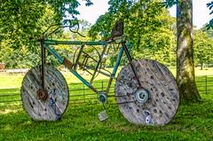 Ebenezers Bicycle. (berenice29) Tags: sculpture bicycle stourheadhouseandgardens wiltshire nationaltrustproperty tree nikond7000