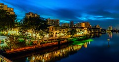 Naples Skyline at Venetian Village (Charles Patrick Ewing) Tags: skyline sky night landscape landscapes skies blue clouds reflection reflections new all everything beautiful lowlight architecture shadows scenic colorful yellow trees flowers green lights bay water gulf canal channel leaves tropical island outdoor nature natural vivid art artistic flower twilight