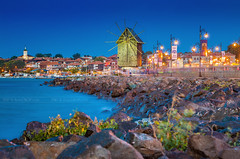 _MG_1602_web - The Nesebar old town mill (AlexDROP) Tags: 2017 bulgaria nesebar unesco travel city nighttime landmark urban color night scape architecture bluehour motion lights mill longexposure hdr canon6d makroplanar100mpze zeiss carlzeiss best iconic famous mustsee picturesque postcard
