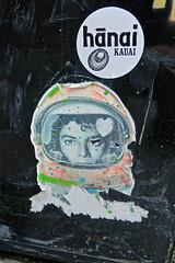 Michael Jackson in Space, New York, NY (Robby Virus) Tags: newyork newyorkcity ny nyc manhattan bigapple city michael jackson paste pasted wheatpaste street art sticker slap hanai market grocery hawaii kauai astronaut space helmet