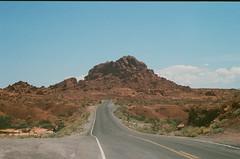 Road to the mountain (Pedro Oliboni) Tags: ultramax 400 kodak nevada valley fire las vegas hike nature film