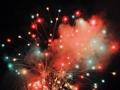 Fireworks (itsmartinleon) Tags: night orange sparky sparks spark light digital smoke celebration happy fire street green party happiness colors color festival fest city fireworks