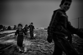 Kids in a refugee camp, Iraq