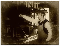 Candle Maker (zweiblumen) Tags: sepia monochrome daguerreotype blistshillvictoriantown madeley telford shropshire ironbridgegorge england uk canoneos50d canonef35mmf2 canonspeedlite430exii polariser zweiblumen