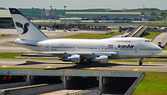 Iran Air. Boeing 747SP-86. EP-IAD. Kuala Lumpur - International (Sepang) (KUL / WMKK), Malaysia. 03-09-2010. Taxiing on the bridge for flight back to Tehran - Mehrabad International (THR / OIII). (Ayham_B773ER) Tags: jet sky aircraft plane aeroplane airplane iran air boeing b747 b747sp b747sp86 epiad kuala lumpur international sepang malaysia taxiing bridge flight tehran mehrabad