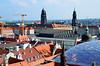 Dresden Altstadt, uitzicht vanaf de Hausmannsturm op de Kreuzkirche en Hofkirche, Duitsland 2017 (wally nelemans) Tags: dresden dresdenaltstadt uitzicht hausmannsturm kreuzkirche hofkirche duitsland deutschland germany 2017 uitzichthausmannsturm viewhausmannsturm