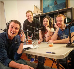 Recording Episode 10 of 'COLD READ' Podcast (AnnieHyphenSage) Tags: anniesage anniesagewhitehurst actress actor nyc performance podcast blake rice comedian cold read ricky ryan itunes bts