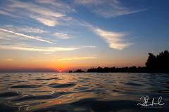 sunset down low (D J England) Tags: djenglandphotography lakehuron douglasjengland sunset lake tobermory water haybay ontario southernontario djengland dje canonpowershotg3x brucepeninsula