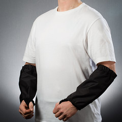 100500 - BitePRO Bite Resistant Version 1 Armguards - Black high res (BitePRO Bite Resistant Clothing) Tags: bitepro®biteresistantclothing bitepro® bite resistant clothing bitepro biteresistantgloves armguards biteresistantarmguards mentalhealth mental health special needs specialneeds autism learningdisabilities
