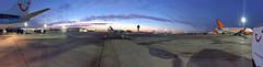 Gatwick Sunrise (o RATMAN o) Tags: gatwick airport sunrise thomsonairways tui airside colours early morning iphone6 panoramic apron hometime