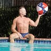 beach ball (ddman_70) Tags: shirtless pecs abs muscle pool poolside beachball speedo