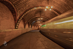NYC old City Hall Station (sylviagoldkranz) Tags: nyc subway summer undergound sylviagoldkranz wideangle canon canonphotography abandoned girme rust old cityhall manhattan curvesandlines motion supershot
