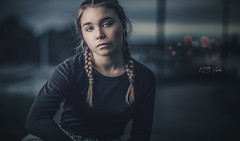 Twilight - II (KTB Visuals) Tags: portrait dark bokeh cinematic cinema eyes darkness girl woman model helsinki finland moody emotion emotional primelens strobist 85mm canon85mm18 5dmarkiv
