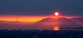 Smokey Sunset over the Golden Gate Bridge