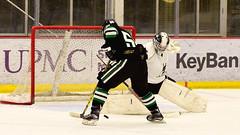 Breakaway move to the backhand... (R.A. Killmer) Tags: black green white skate stick puck score breakaway goal net celebrate celebration fast acha slippery rock university 2017