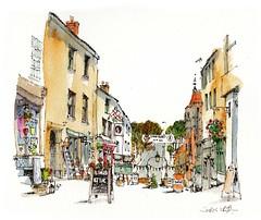 Shepton Mallet, Somerset (wanstrow) Tags: shepton shops artists somerset drawing orange