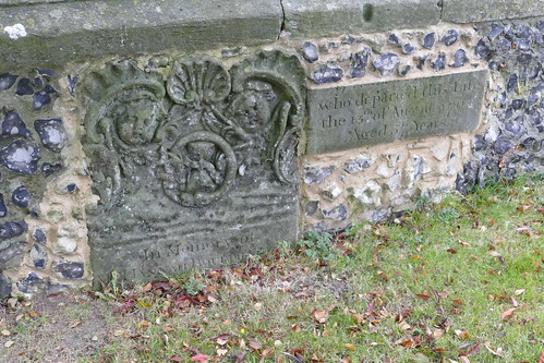 Bisected Gravestone, Saint John the Evangelist Church Graveyard, Havering-Atte-Bower