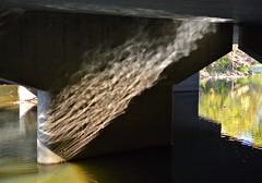 under the bridge (brown_theo) Tags: bridge water big walnut creek gahanna reflection support