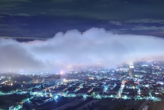 Clouds covering, Puli downtown 埔里虎頭山