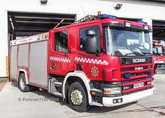 BAA Heathrow Scania P94D RX54 FKU (policest1100) Tags: baa heathrow scania p94d rx54 fku
