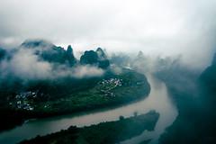 (Jack R. Seikaly Photography) Tags: guilinshi guangxizhuangzuzizhiqu china cn morning sunrise yangshuo li river landscape fog cloud clouds cloudy jack seikaly jrseikaly photography