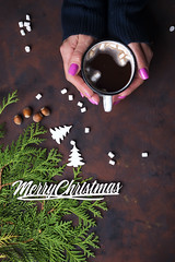 female hand holding cup of hot cocoa (lyule4ik) Tags: hot chocolate cocoa cup drink mug female background christmas hand season warm winter wooden beverage breakfast clothing morning sweater white woman autumn marshmallow overhead above cafe cold gift girl hold holiday knitted new people red sweet table wood xmas decoration food coffee top desk flat greeting joy lay view year