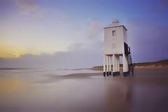 Standing guard (Nige H (Thanks for 20m views)) Tags: nature landscape beach lighthouse sunset burnhamonsea england somerset littlelighthouse stilts
