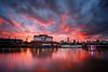 Atardece en Puerto Madero (pmozzarelli) Tags: sunset atardecer riodelaplata docks diques nubes cielo refeljos sky clouds reflections longexposure canon1dsmarkiii laowa15mmf4macro buenosaires