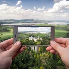 Silver Frame (Explore #20) (Fabian Fortmann) Tags: sony xperia xz1 smartphone neuschwanstein bayern bavaria germany deutschland roadtrip autumn fall sponsored