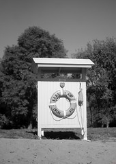 Black & White Photo Challenge (3/7) (photo_secessionist) Tags: blackwhite bw bn landscape sign beach summer autumn outside seveninseven pentax km pentaxaf250mmlens digital falmouth virginia