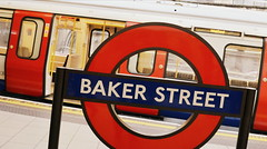 Metropolitan To Watford (dhcomet) Tags: baker street tube underground station roundel sign metropolitan line train red transport london tfl