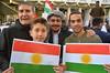 Peshmerga rally at the gates of us embassy (philip robins) Tags: usa iraq iscaliphate war betrayal politics kurdish pdk family awniyousef