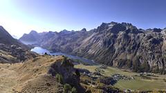 Sils Maria, the lake and the mountains (Karl Le Gros) Tags: silsmaria mountains panorama 2017 engadin switzerland graubünden pizlagrev silsersee maloja sonyilce7rm2 zeisssonnartfe55mmf18za