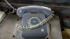 Kein Anschluss (krieger_horst) Tags: stahlwerk kabel telefon brandenburg grau ddr