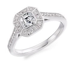 Fabulous 0.75 carat asscher cut diamond engagement ring which can be custom made to your preferences in 18 carat white, yellow, rose gold or platinum ✨💎 (VoltaireDiamonds.ie) Tags: diamond rings engagement jewellery