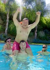 IMG_9562 (danimaniacs) Tags: shirtless hot sexy guy man male swimmingpool smile beard scruff armpit shorts trunks swimsuit
