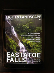 Light and Landscape Cover (Reid Northrup) Tags: lightandlandscapemagazine estatoefalls waterfall water forest magazine trees northcarolina landscape nikon fog nature rocks reidnorthrup longexposure