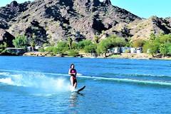 Water skier (thomasgorman1) Tags: skiing outdoors river colorado recreation nikon arizona fun sports smiling riverfront waterfront woman bikini sunny colors