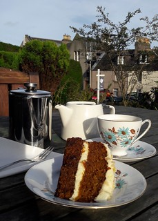 Afternoon tea and Carrot cake in Stonehaven