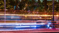 streetcar tracks sweep (pbo31) Tags: sanfrancisco california night dark october color 2017 fall boury pbo31 nikon d810 lightstream motion traffic roadway muni transit tram streetcar embarcadero truck streetcleaning brush trash