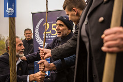 Dr. Hany El-Banna along with Islamic Relief Bosnia's country director, Semir Velija planted the first tree together. Together, they were part of the movement to start IR Bosnia back in 1992.