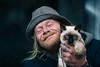 Companion (Off The Beaten Path Photography) Tags: companion human humans cat siamese street streets man beast homeless love