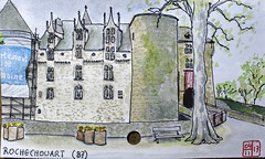 La France des sous-préfectures, 87 (chando*) Tags: aquarelle watercolor croquis sketch france