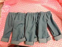 cuffed sasha jeans (JennyTheArtist) Tags: sasha gregor cuffed jeans pants trousers denum denim vintage doll clothes handmade elastic