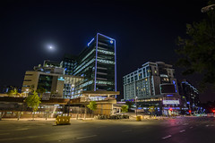 Sandton City, Johannesburg (Paul Saad) Tags: night long exposure johannesburg sandton nikon street lights building architecture road city skyscraper sky sign intersection flickr