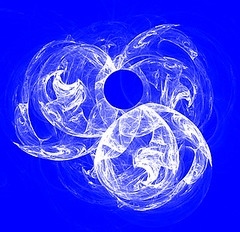 Out Of The Blue (Rollingstone1) Tags: fractal art artwork design blue white round swirl outoftheblue scotland ball circle light imagesynthesis