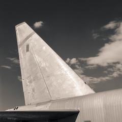 VERTICAL STABILIZER (Jeff D Welker) Tags: ilfordfp4 tucson arizona zeissplanarf35100mmcf boeingnb52astratofortress hasselblad501cm pimaairspacemuseum