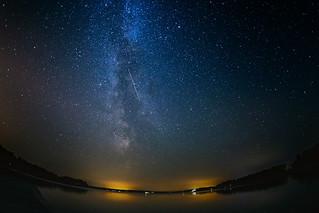 Milky way + shooting star