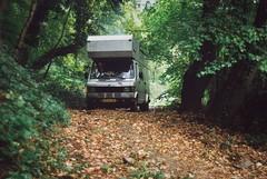 Into the Forest (Skylark92) Tags: belgie belgium belgique ardennen ardennes forest burg reuland burgreuland herfst autumn herbst mercedes benz mercedesbenz 407d d 407 custom camper van